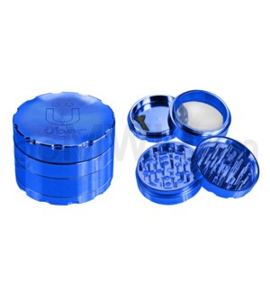"Uber Grinder 4 pc CNC 40mm 1.5"" Blue 10PC/BX"