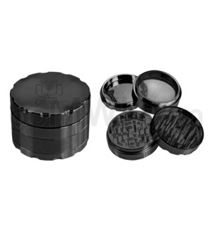"Uber Grinder 4 pc CNC 40mm 1.5"" Black 10PC/BX"