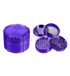 "Uber Grinder 4 pc CNC 40mm 1.5"" Purple 10PC/BX"