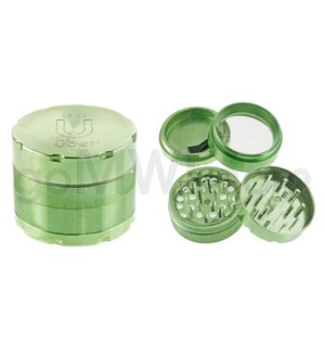 "Uber Grinder 4 pc CNC 50mm 2"" Green 10PC/BX"
