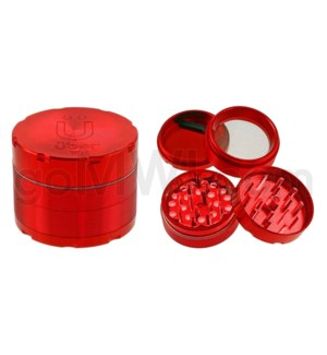 "Uber Grinder 4 pc CNC 50mm 2"" Red 10/PC/BX"
