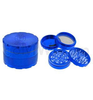 "Uber Grinder 4 pc CNC 62mm 2.5"" Blue 10PC/BX"