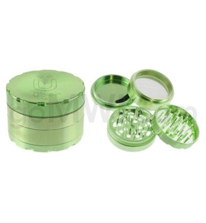 "Uber Grinder 4 pc CNC 62mm 2.5"" Green 10PC/BX"