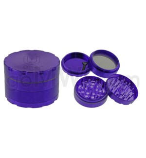 "Uber Grinder 4 pc CNC 62mm 2.5"" Purple 10PC/BX"