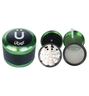 "Uber 3.0 Grinder 2.5"" 4pc CNC w/ Screen Green"