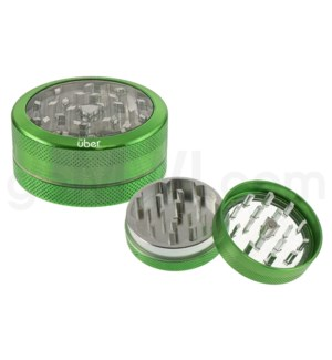 "DISC Grinder Uber 2 pc CNC Clear Top 50mm-2 "" Green"