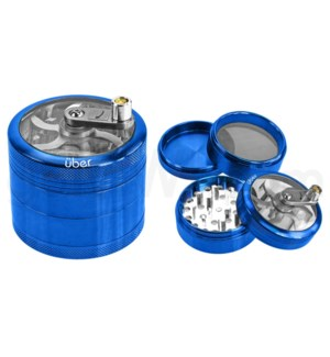DISC Uber Grinder 4 pc CNC Clear Top & Hand Crank 62mm 2.5""