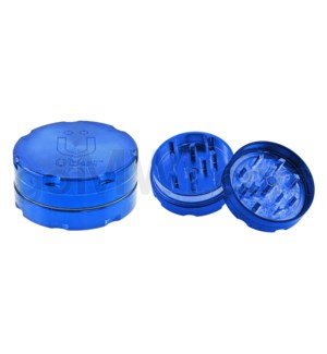 "Uber Grinder 2 pc CNC 40mm 1.5"" Blue 10PC/BX"