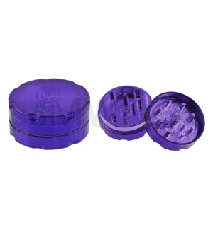 "Uber Grinder 2 pc CNC 40mm 1.5"" Purple 10PC/BX"