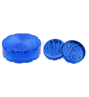 "Uber Grinder 2 pc CNC 62mm 2.5"" Blue 10PC/BX"