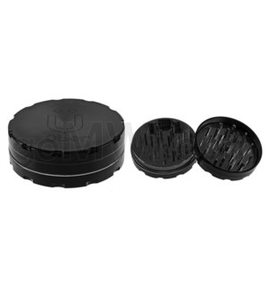"Uber Grinder 2 pc CNC 62mm 2.5"" Black 10PC/BX"