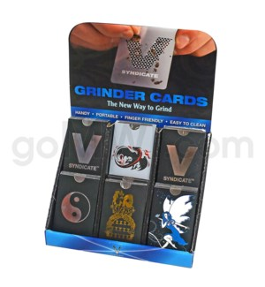DISC Grinder V Syndicate Card Grinder 60ct Display - Eclip