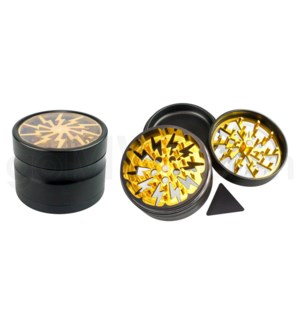 "Chromium Crusher Volt Grinder 2.5"" CNC 4pc  w/screen - Gold"