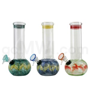 "9mm-8.5"" Bubble w/Fumed Bowl & Designs Assorted USA"
