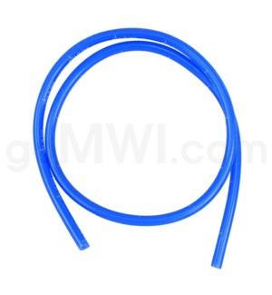 DISC 3FT. Glass Whip Tube for Vaporizer BLUE