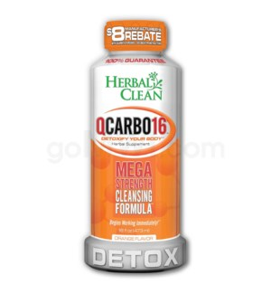 Herbal Clean Q Carbo Liquid 16oz - Orange