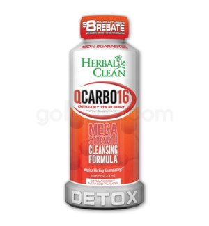 Herbal Clean Q Carbo Liquid 16oz - Strawberry Mango