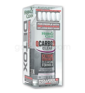 Herbal Clean Q Carbo Clear Liquid 20oz - Cran-Raspberry