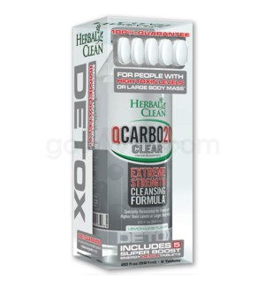 Herbal Clean Q Carbo Clear Liquid 20oz - Lemon Lime