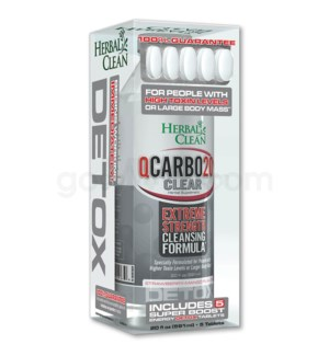 Herbal Clean Q Carbo Clear Liquid 20oz - Strawberry Mango