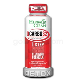 Herbal Clean Q Carbo Liquid 32oz - Tropical