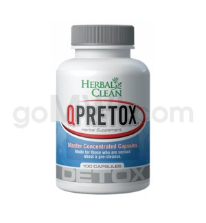 Herbal Clean Q Pretox - 100ct capsules
