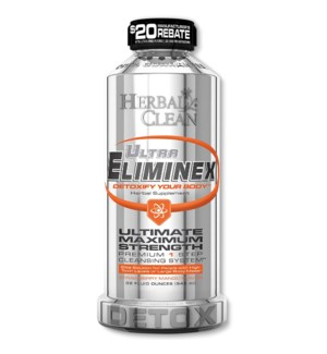 Herbal Clean Ultra Eliminex Liquid 32oz - Strawberry Mango
