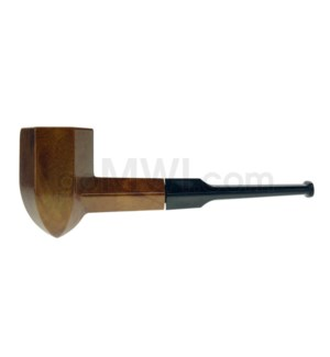 """5"""" Wooden Pipe  w/pouch Brown octogon"""