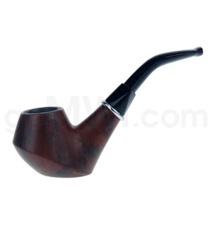 """4.5"""" Wooden Pipe w/pouch Wooded Grain"""