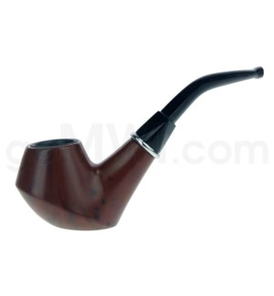 Wooden Pipe w/pouch Wooded