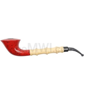 "Wooden Pipe 10"" w/ Stand"