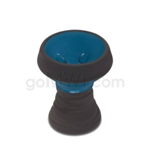 Amira Hookah Bowl Black Stone Two Tone - Blue