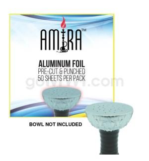 """Amira Pre Cut 5"""" Hookah Aluminum Foil 50PK 24CT/BX"""