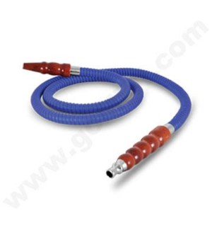 DISC Hookah Sahara 6' Leather Hose-Blue