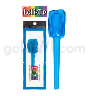 Lolli-Tip Candy Hookah Mouth Tips 100CT/BG -Blue Dream