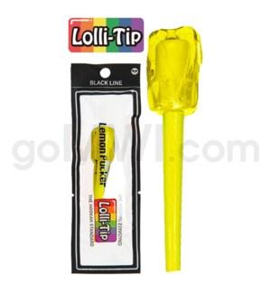 Lolli-Tip Candy Hookah Mouth Tips 100CT/BG Black-Lemon Pucker