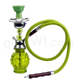 "Hookah 1-HS 11"" Grape Style Box  Green"