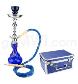 "DISC  Hookah Premium 1-HS-21"" Amira Blue W/Case"