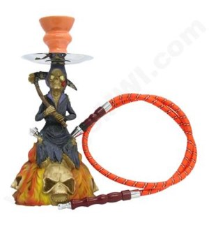 "DISC 13"" Poly Resin Hookah Grim Reaper"