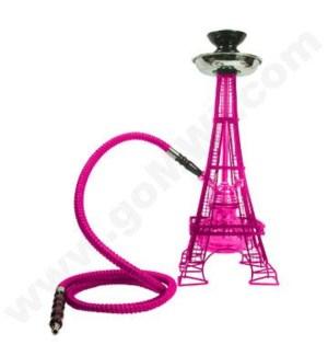 """DISC Hookah Inhale 1-HS 17""""  Eiffel Tower - Pink"""
