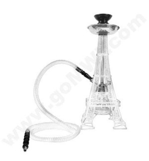 "DISC Hookah Inhale 1-HS 17""  Eiffel Tower - White"