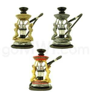 "Hookah Amazon (grey red and antique bone)1-HS-12""-"