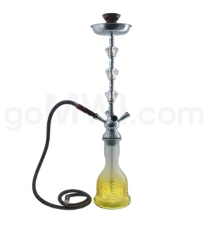 """Hookah 4-HS 27"""" Tall  Crystal  w/Briefcase Assorted"""