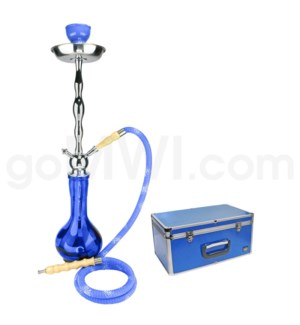 "DISC Hookah Premium 1-HS-27"" Amira Blue W/Case"