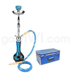 "DISC Hookah Premium 1-HS-27"" Amira Light Blue W/Case"