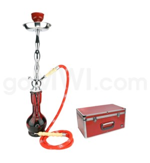 "DISC Hookah Premium 1-HS-27"" Amira Red W/Case"