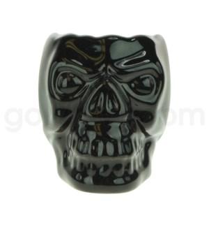 Hookah Ceramic Top Skull Small Black