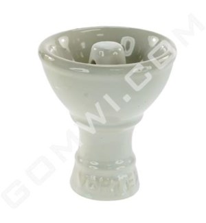 "DISC Vortex Hookah Ceramic Top 3"" White"