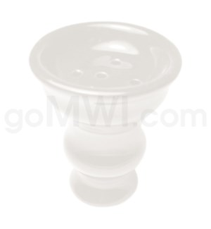 "Inhale Hookah Wide Ceramic Top 2.5"" White"
