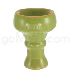 "DISC Premium Hookah Ceramic Top 3"" Bowl Green"